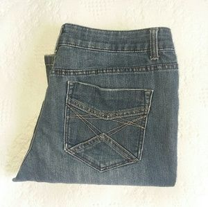 DKNY Bootcut Jeans - Distressed - Frayed